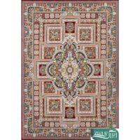 فرش ماشینی 1200 شانه قصر ایرانیان کد 5032 زمینه روناسی