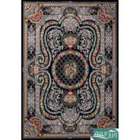 فرش ماشینی 1200 شانه قصر ایرانیان کد 5040 زمینه سرمهای