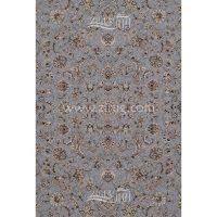 فرش ماشینی 1200 شانه شیخ صفی کد 12117 زمینه نقره ای