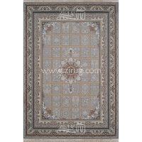 فرش ماشینی 1200 شانه شیخ صفی کد 12118 زمینه نقره ای