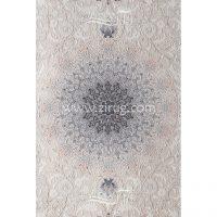 فرش ماشینی 1000 شانه کلکسیون آرامیس کد 1016 زمینه کرم گل برجسته بامبو