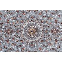 فرش ماشینی 700 شانه کلکسیون لاهور طرح بهار زمینه نقره ای